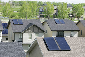 Solar Thermal system installed on roofs